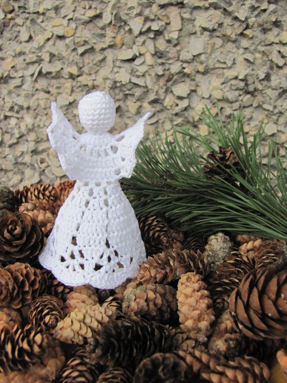 Christmas angel Christmas decor Crochet angel by InKasTrifles