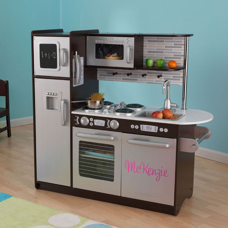 Cool, modern kitchen for the kids to play.
