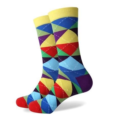Comfortable and Funky Argyle Pattern Dress Socks (20 options)