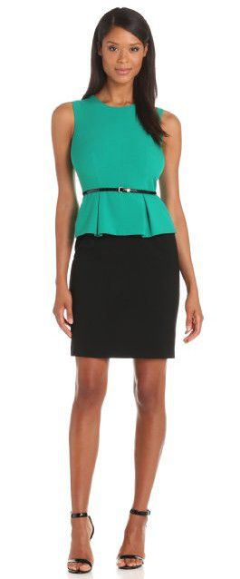 "I just got a Black pencil skirt! It hits right about there on me, I want to wear it to the lady's brunch tomorrow but I'm scared that everyone's going to be like ""woe too short!"" But yeah... Is it too short?"