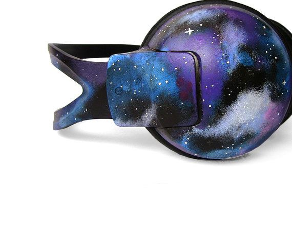Space Galaxy Nebula Cosmic large headphones by ketchupize on Etsy