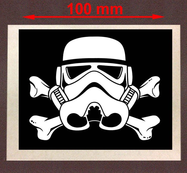 Clone trooper pirate flag autocollant sticker 100mm ca070