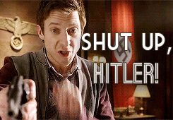 """Good advice.  """"Rory, go stick Hitler in the closet."""""""