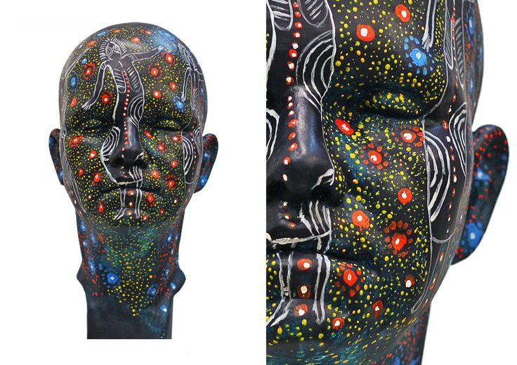 Aboriginal painting sculpture by Klaudia Kaczmarek
