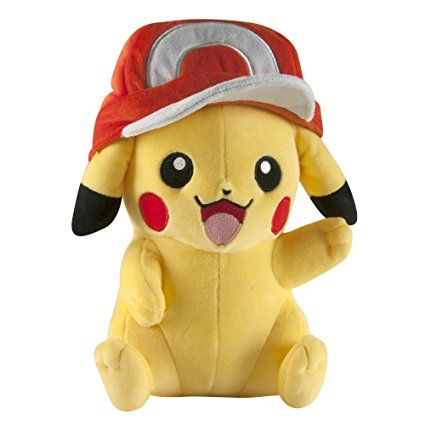 Pokemon T18981 10-Inch Pikachu Plush Toy with Ash's Hat