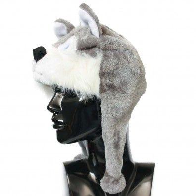 Cappello diam. 54 mm  peluches husky di color grigio