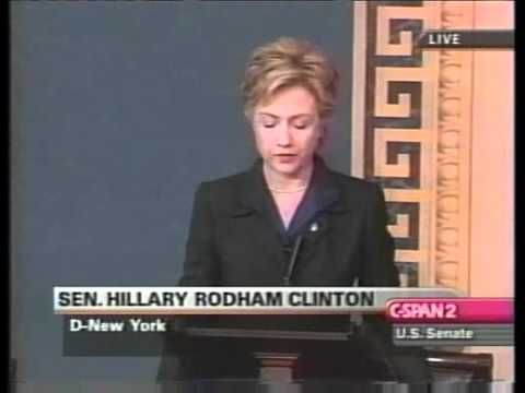 Hillary Clinton's Iraq War Vote Speech - YouTube