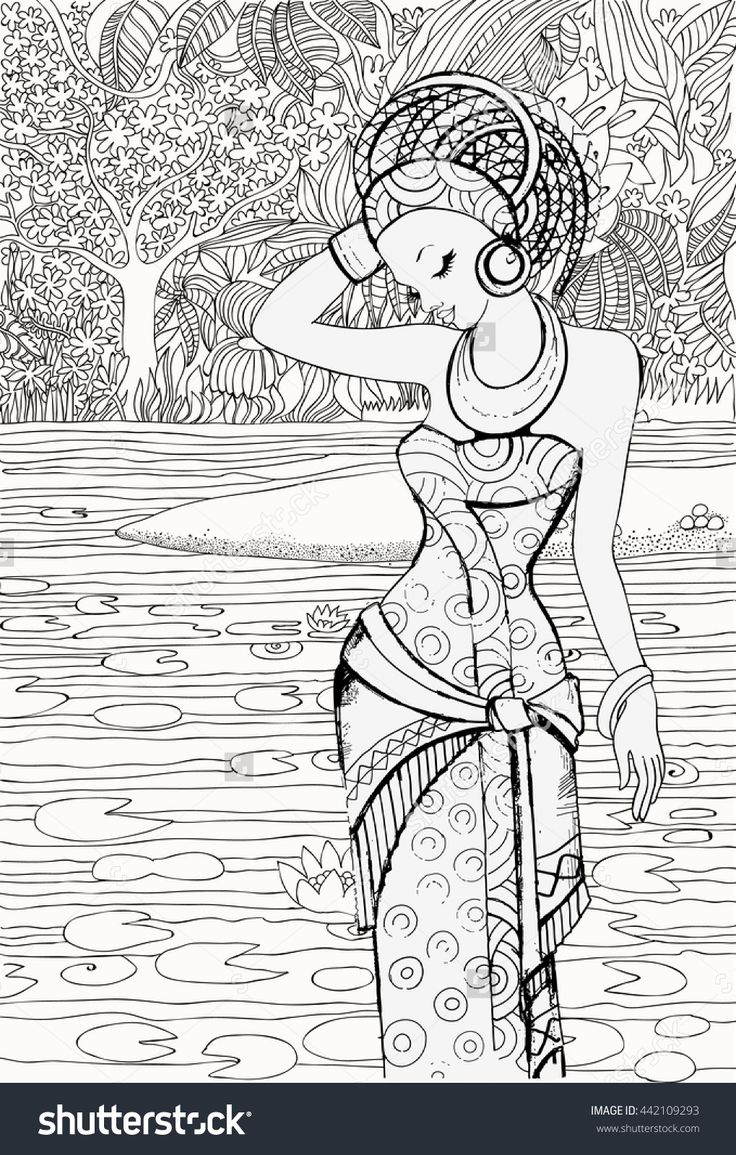 772 best beautiful women coloring pages for adults images on