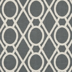 Lattice Bamboo Greystone Contemporary Drapery Fabric by Robert Allen