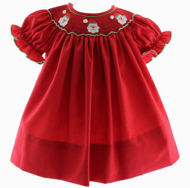 11 Best Girls Christmas Dresses Smocked Christmas Bishop Dress