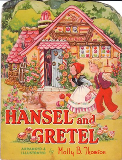 Shape books and books with holes - Vintage Hansel & Gretel children's book #kids #Fairytales