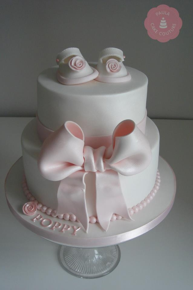 'Little Shoes' christening Cake x