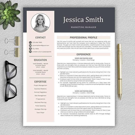 Modern Resume Template / Professional Resume Template for Word