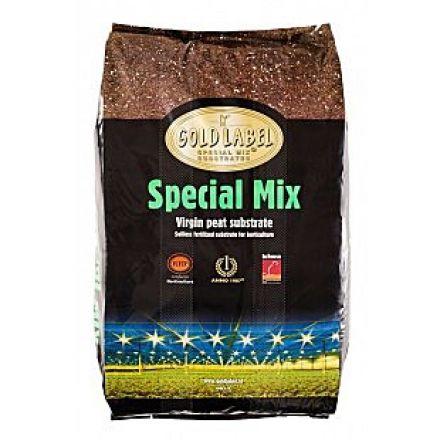 Почвенная смесь GOLD LABEL Special Mix 50 л Компания Gold Label предлагает лучшие субстраты на рынке Европы. Предпочитаете вы хорошо удобренный торфяной субстрат или лёгкую смесь для гидропоники, например, кокосовое волокно или керамзитовые гранулы? Независимо от вашего выбора, компания Gold Label превратит урожай в золото! Профессиональные растениеводы доверяют субстратам и питательным веществам от компании Gold Label и выбирают эту продукцию уже много лет.  Субстрат Gold Label Special…