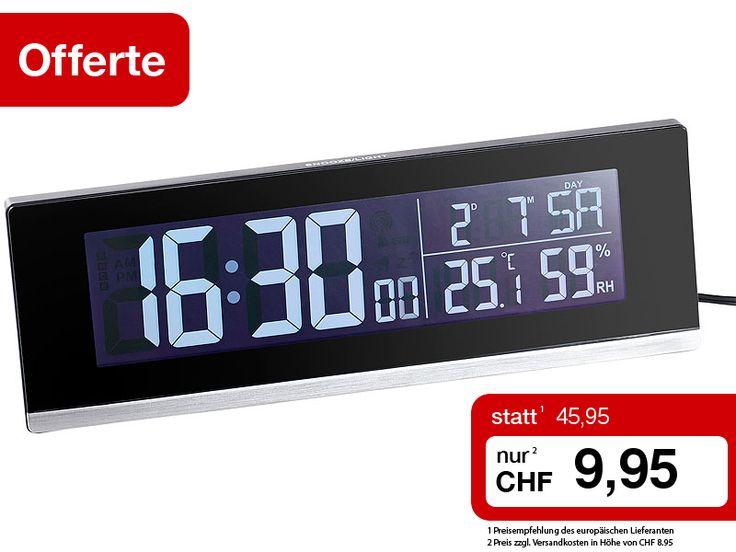 Nächste Woche werden die Uhren wieder auf die Sommerzeit umgestellt! Das bedeutet dieses Mal leider eine Stunde weniger schlafen! Damit Sie trotzdem früh genug wach werden, sollten Sie einen Funkwecker nutzen. Dank automatischer Zeitumstellung weckt er Sie genau auf die Sekunde!  dieser Tisch-Funkwecker mit Thermometer, Hygrometer und USB-Ladebuchse: http://www.pearl.ch/ch-a-CHA3986-3040.shtml?%20vid=613&wa_id=26&wa_num=1