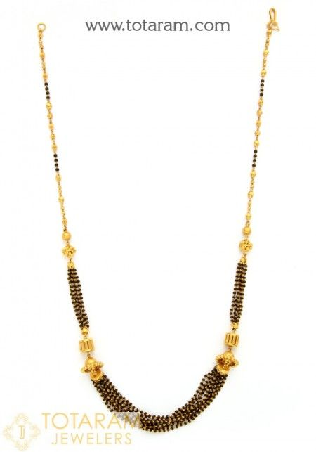 55b4a66175 Mangalsutra Chains With Pendants - Buy Online Indian 22K gold Mangalsutra  Chains, South Indian Wedding Chain, black beads chains made in India.