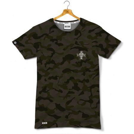 Koszulka patriotyczna Krzyż Narodowych Sił Zbrojnych - CAMO - Kolekcja Dyskretna - odzież patriotyczna, koszulki męskie Red is Bad