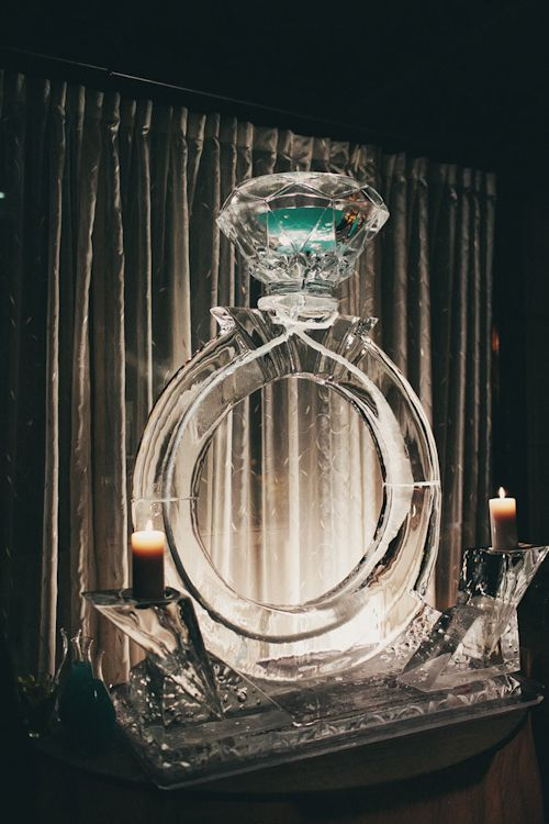 #Ice Carving  modern wedding at Hotel 1000 with photos by James Moes Photography  | junebugweddings.com