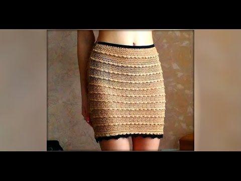 Как связать юбку крючком. how to knit crochet skirt
