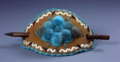 Athabascan Hair ornament embroidered with moose hair