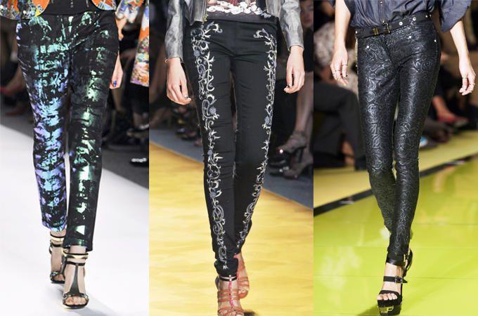 pantaloni skinny preziosi neri SS14