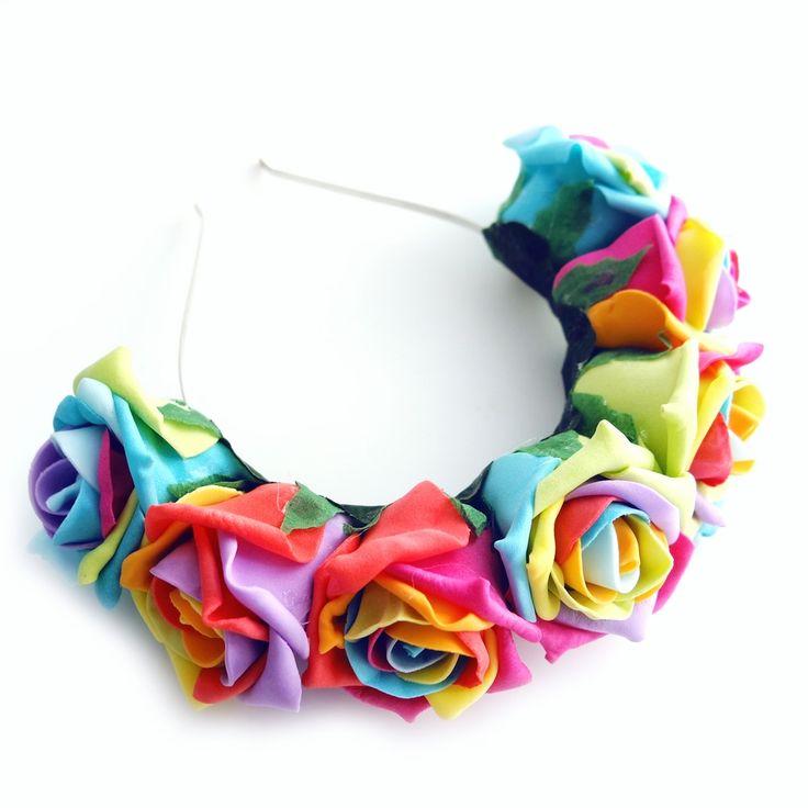 Image of Rainbow Rose Headband - Limited Edition!