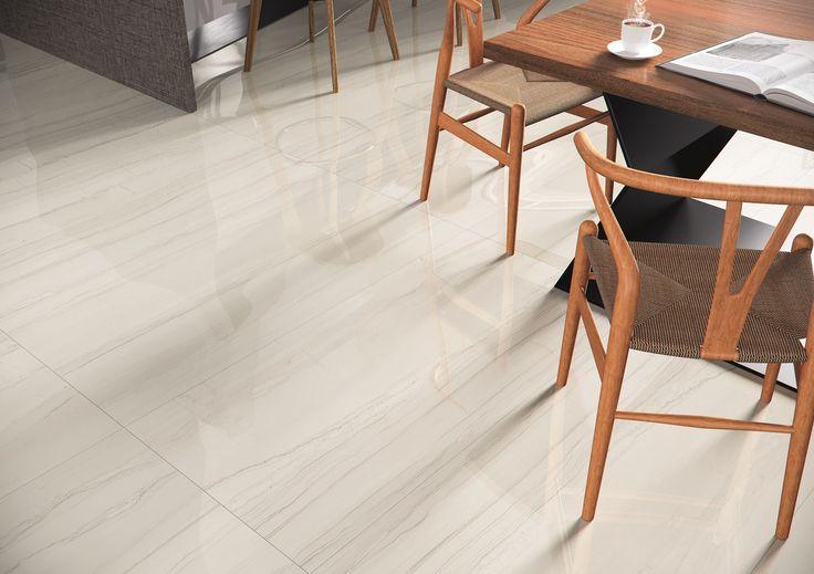 Porcelanato Polido Cerâmica Portinari. Coleção Linear Marble. Cozinha, sala, brilho, brilhoso, mármore.