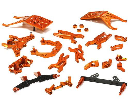 Integy Complete Suspension Kit for 1/10 Traxxas Slash 2WD T8676ORANGE