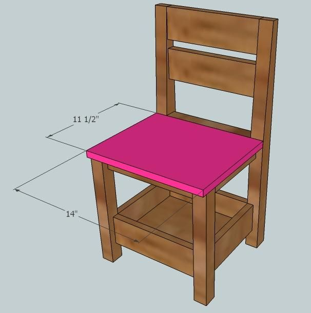 Childrens Storage Chair  another free pattern