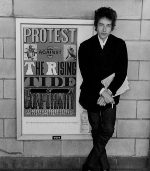 Bobdylan Protest Against The Rising Tide Of Conformity
