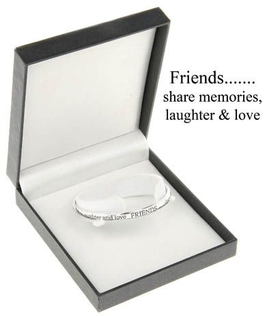 Equilibrium Silver Plated Bangle - Live Well Love Much Laugh Often by Jolie Bijoux baXIlRB4K
