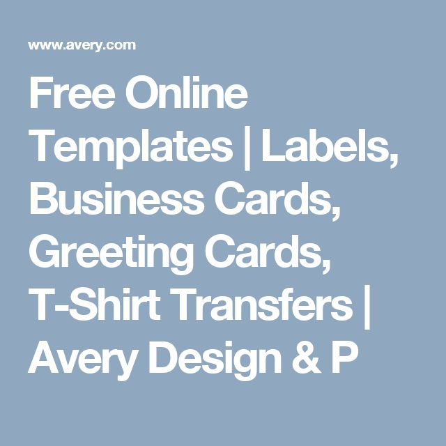 Free Online Templates Labels Business Cards Greeting Cards T