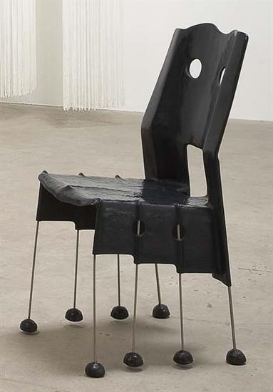 GAETANO PESCE 'Greene Street' armchair, 1984  Cast resin, steel, rubber. Manufactured by Vitra AG, Germany. 95 cm. (37 3/8 in.) high.