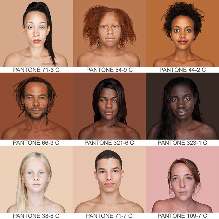 Photographer Travels The World To Capture Every Skin Tone In Pantone Style