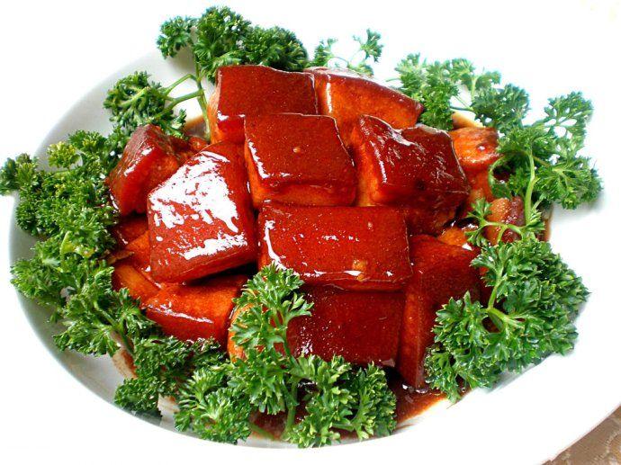 pork braised in brown sauce