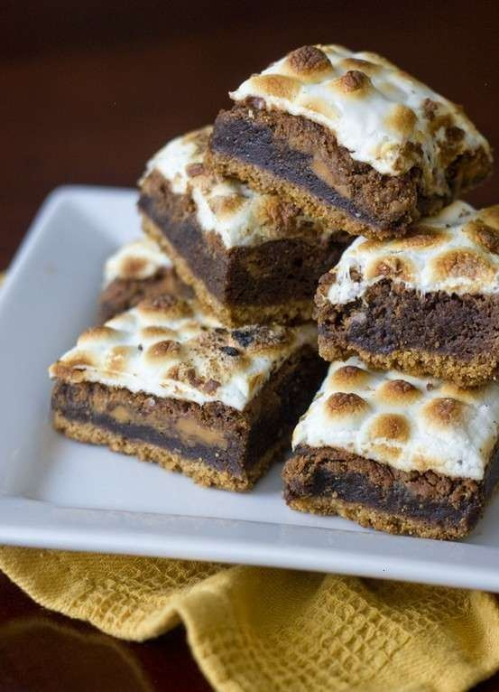 peanutbutter smores brownies