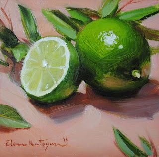 Paintings by Elena Katsyura: Limes and Leaves