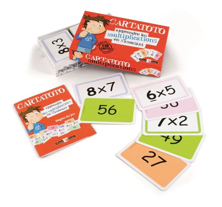 BARAJA CARTATOTO MULTIPLICACIONES Aprende a multiplicar divirtiéndote con las 110 cartas de este juego en las que por un lado está la operación y por el otro el resultado. Se el mas rápido resolviendo y ganarás. Además te cuentan trucos para que aprendas las tablas mas fácilmente.  PVP: 11,55 € #barajainfantil #aprenderamultiplicar #juegosdemesa http://www.babycaprichos.com/baraja-cartatoto-multiplicaciones.html