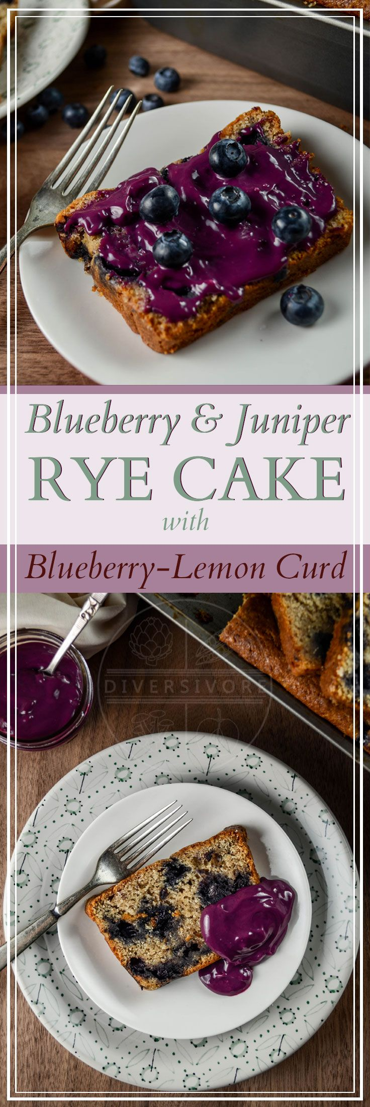 Blueberry-Juniper Rye Cake with a Lemon-Blueberry Curd (#sponsored by BC Egg), plus tips and tricks for three different methods for making fruit curd.