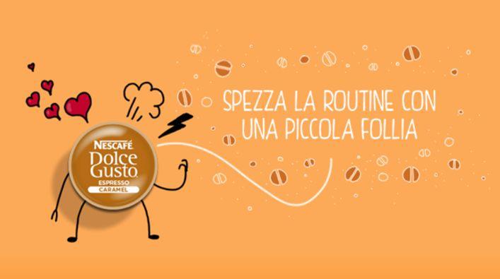 Espresso Caramel e la routine (Pic by Nescafè Dolce Gusto)