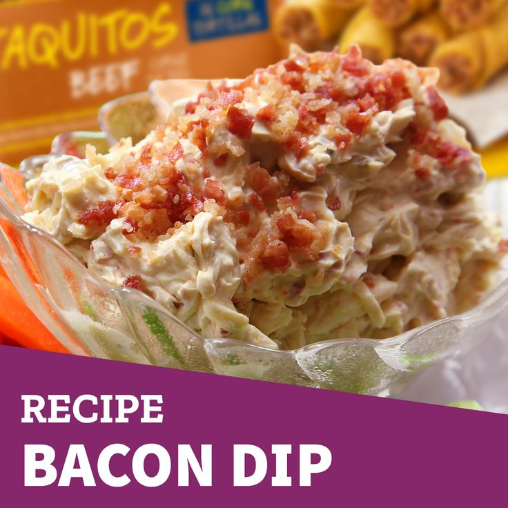 Eat your #taquitos with a tasty #bacon #dip