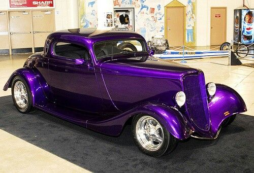 Perfect wedding car for a purple colour theme!
