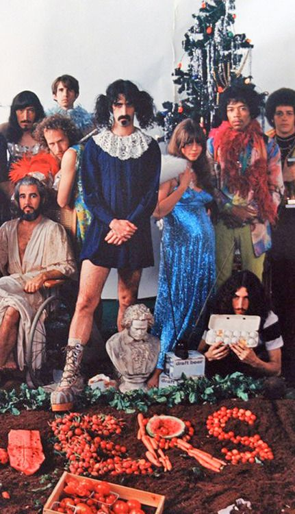 Frank Zappa and Jimi Hendrix. This was a photo shoot for a Sgt. Peppers sendoff.  I just love Zappa's boots ;)))