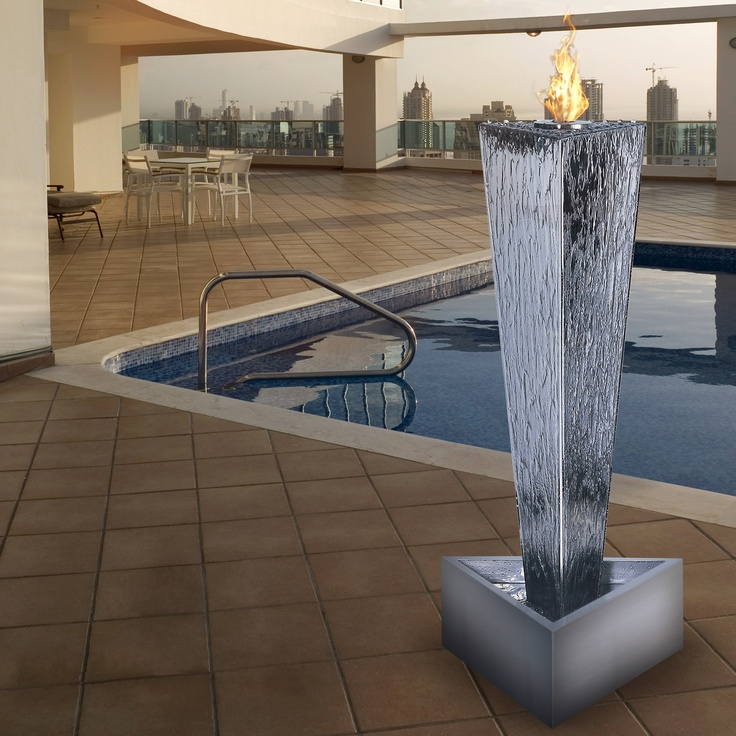 tower of fire - nice! fire and water fountain :D
