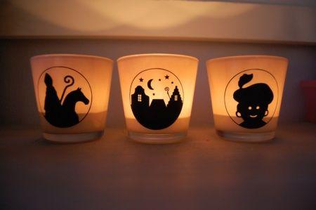 Heel simpel, waxine lichtjes voor Sinterklaas. Ontworpen en gemaakt met behulp van de Silhouette Cameo!