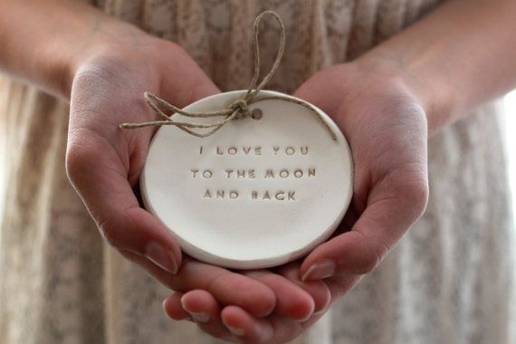 I love you to the moon and back Ring bearer pillow door orlydesign, $48.00
