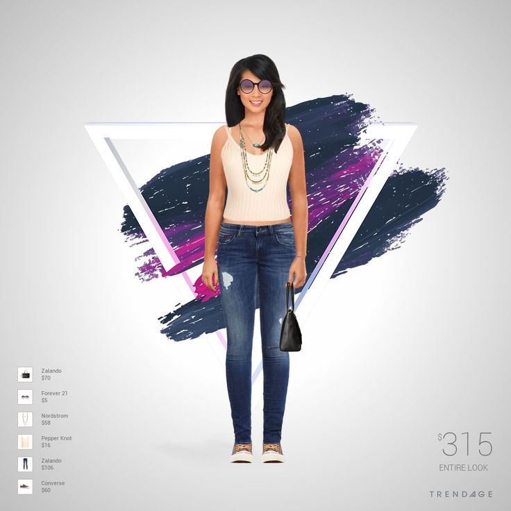 Fashion look with clothes from  Zalando, Pepper Knot, Nordstrom, Forever 21, Converse.