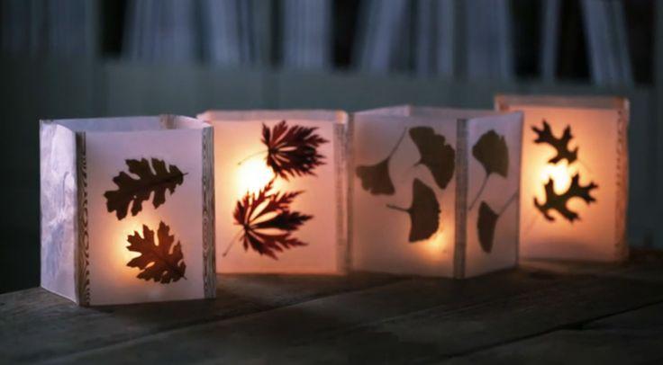 Lanterne con foglie fai da te come fare una lanterna con foglie lanterna autunnale fai da te guida passo passo consigli foto materiali tutorial lanterna