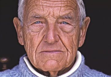 This portrait of Andrew Wyeth rivets me. Who decided age wasn't beautiful?