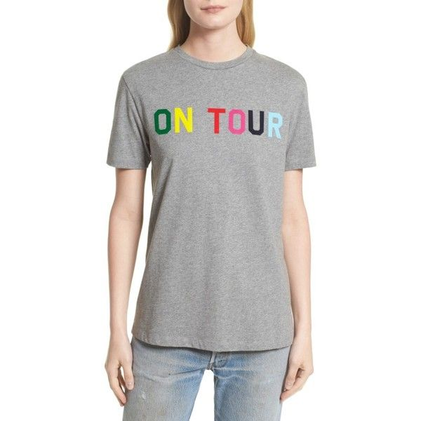 Women's Etre Cecile On Tour Tee (1.399.230 IDR) ❤ liked on Polyvore featuring tops, t-shirts, medium grey marled, colorful t shirts, marled tee, multi color tops, grey tee and marled t shirt